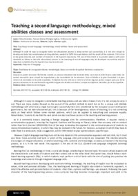 Teaching a second language: methodology, mixed abilities classes and assessment