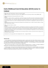 Early Childhood Care & Education (ECCE) sector in Ireland