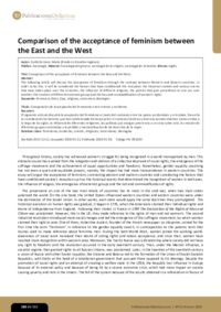 Comparison of the acceptance of feminism between the East and the West