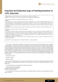 Inductive and Deductive ways of Teaching Grammar in a EFL classroom