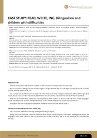 CASE STUDY: READ, WRITE, INC. Bilingualism and children with difficulties