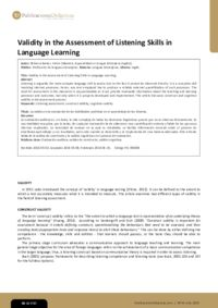 Validity in the Assessment of Listening Skills in Language Learning