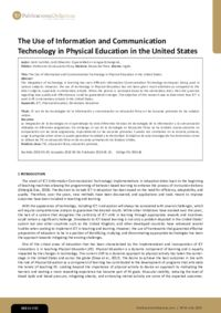 The Use of Information and Communication Technology in Physical Education in the United States