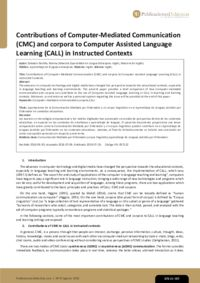 Contributions of Computer-Mediated Communication (CMC) and corpora to Computer Assisted Language Learning (CALL) in Instructed Contexts