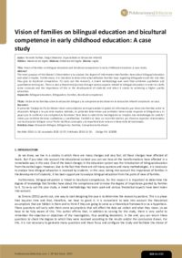 Vision of families on bilingual education and bicultural competence in early childhood education: A case study