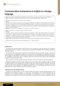 Communicative Competence in English as a foreign language